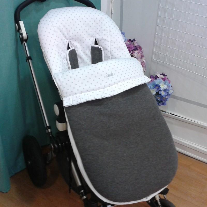 saco lana gris topo con plisado