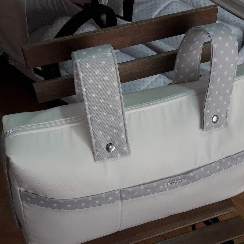 Bolso panera con cremallera + asa larga bicolor